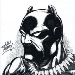 Black Panther - BW Drawing