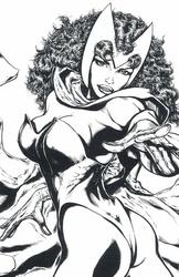 Scarlet Witch - BW Print