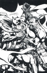 Batman and Punisher - BW Print