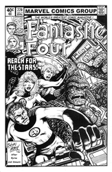 Fantastic Four 220: Cover Recreation - BW Drawing