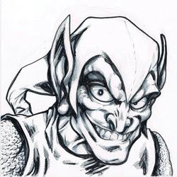 Green Goblin - BW Drawing